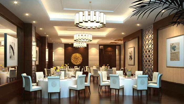 养生项目_中式私房菜餐厅装修设计案例效果图_岚禾装饰设计