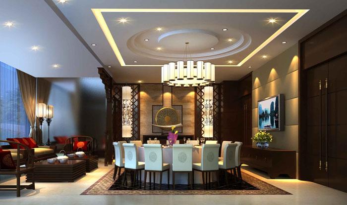 中式私房菜包間餐廳裝修設計案例效果圖