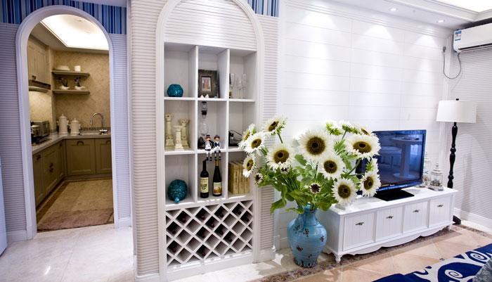 地中海风格别墅客厅电视背景墙装修设计效果图