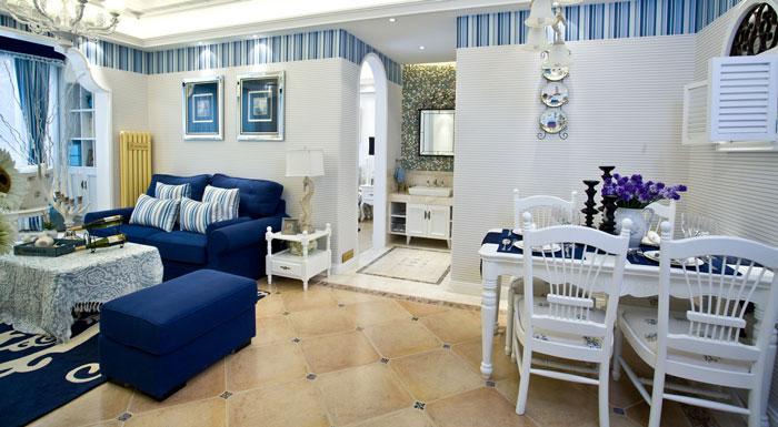 地中海风格别墅餐桌装修设计效果图