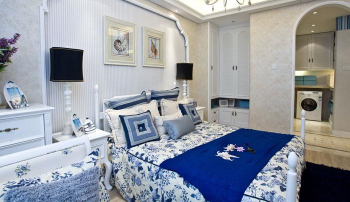 地中海风格别墅卧室厅装修设计效果图