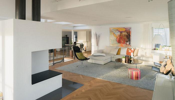 豪华别墅客厅休息区域装修设计案例效果图