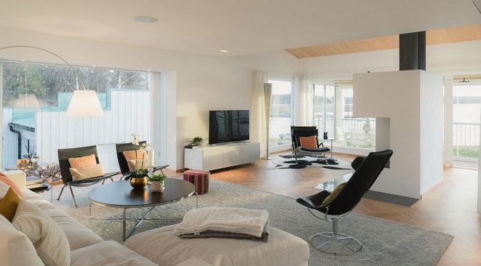 豪华别墅客厅整体区域装修设计案例效果图