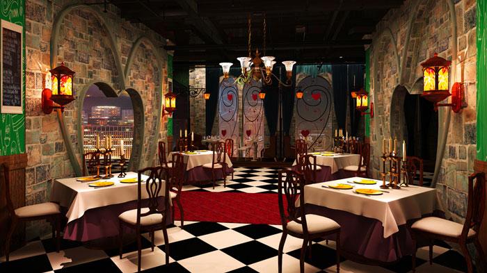 爱丽丝漫游仙境主题餐厅装修设计案例