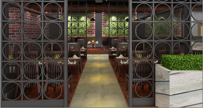 港式工厂风主题餐厅装修设计案例