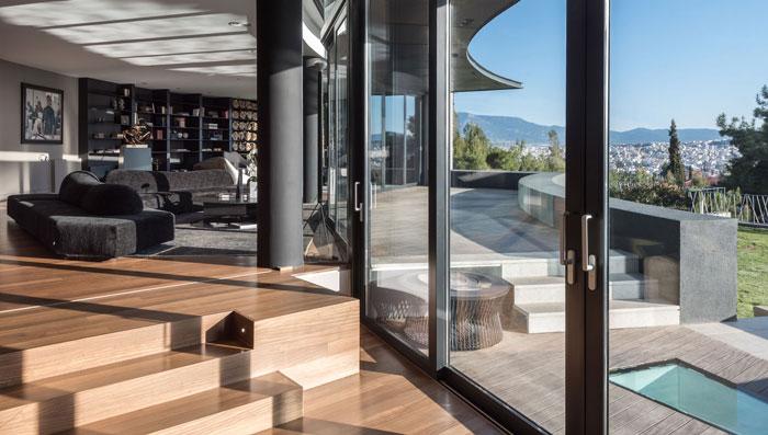 艺术系别墅室内阳台软装装修设计案例效果图