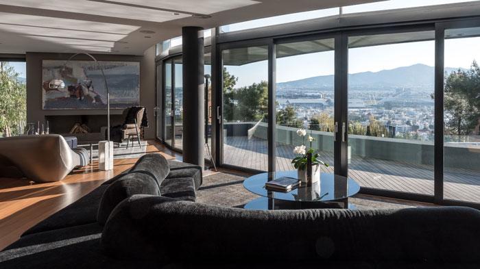 艺术系别墅室内沙发区域沙发摆放软装装修设计案例效果图