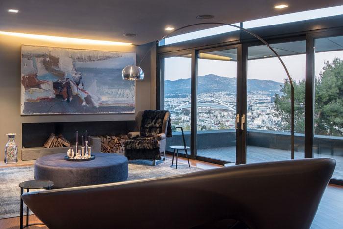艺术系别墅室内背景墙软装装修设计案例效果图