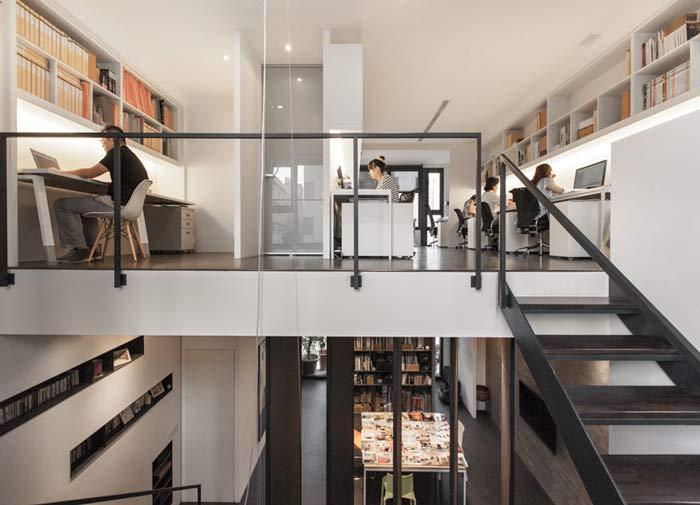 杭州loft风格办公室一楼二楼空间装修设计案例效果图图片