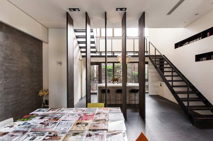 杭州loft风格办公室隔断门空间装修设计案例效果图图片