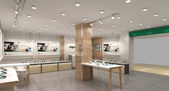OPPO手机店铺装修设计案例