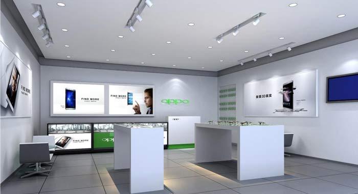 oppo智能手机体验店装修设计案例