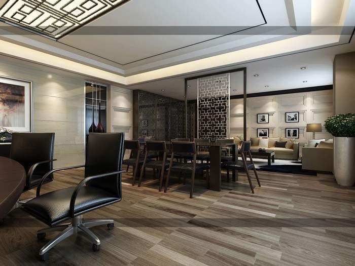 2016年新中式风格总裁办公室装修设计案例