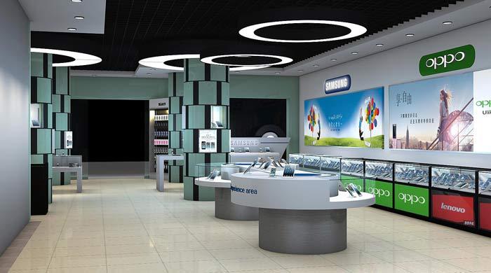 水晶宫手机店装修设计案例