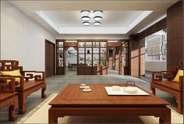 2016年中式风格总经理办公室装修设计案例图片