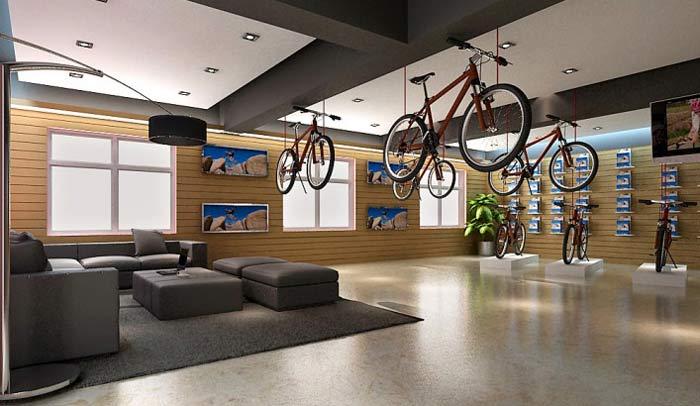 奥城自行车店装修设计案例