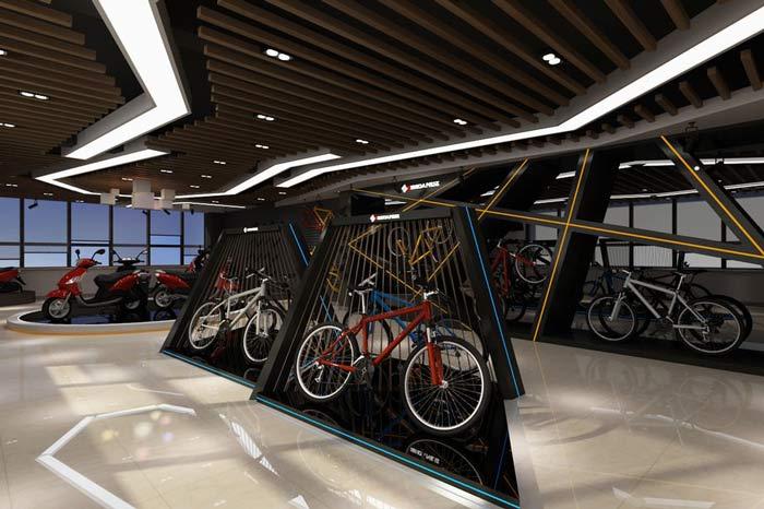 兴世达自行车、电动车装修设计案例