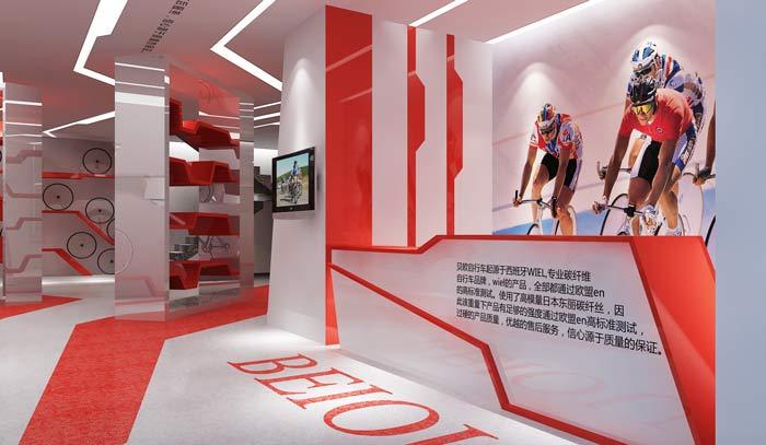 童装专卖店设计理念_贝欧自行车专卖店装修设计案例效果图_岚禾装饰设计