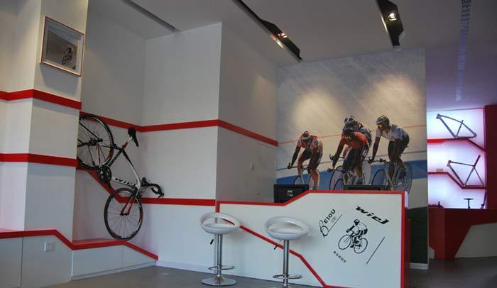 贝欧自行车专卖店装修设计案例
