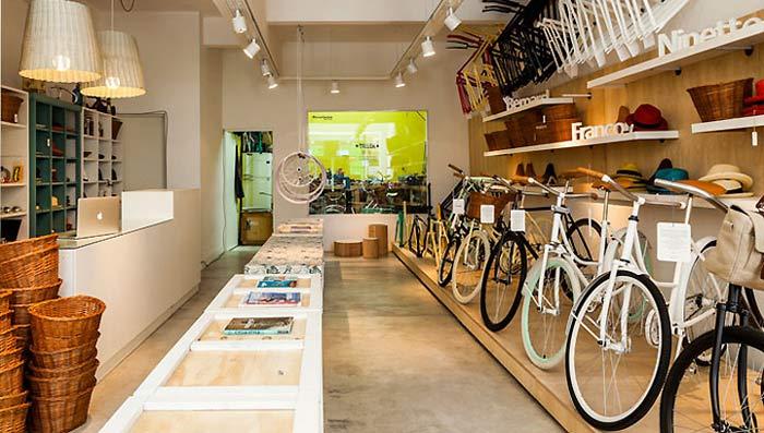 工业元素自行车店铺装修设计案例