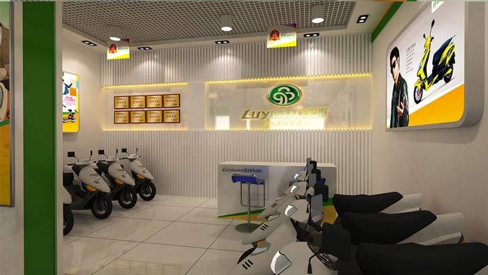 绿源电动车专卖店装修设计案例