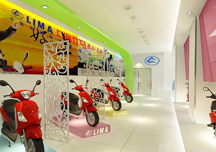 電動車銷售展示中心,店面裝修設計案例