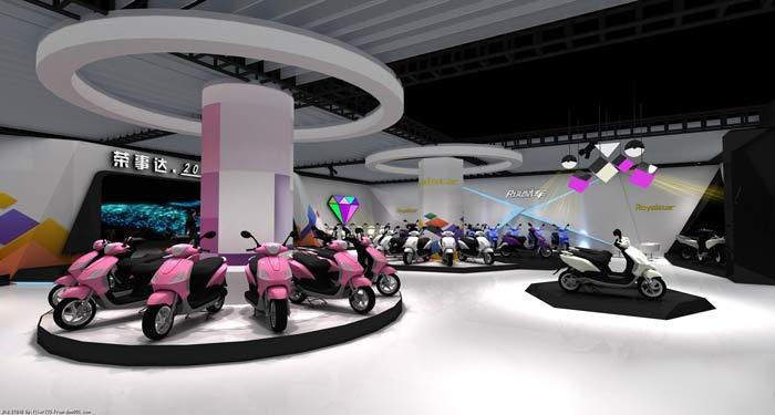 荣事达电动车展厅装修设计案例