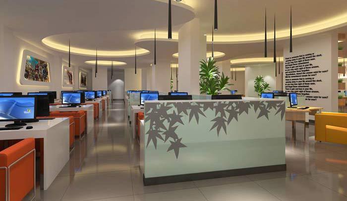 杭州布卡网咖会所装修设计案例