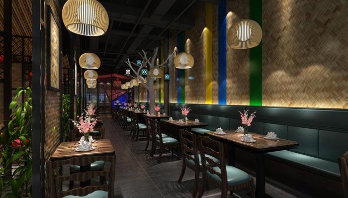 浪漫情侣主题餐厅装修设计案例