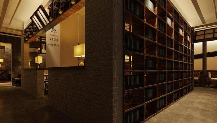 回忆式主题餐厅出餐口装修设计案例效果图