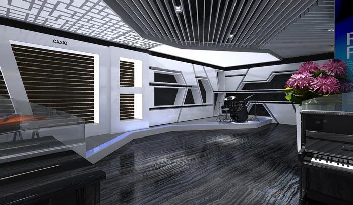 伽音琴行大廳裝修設計案例效果圖