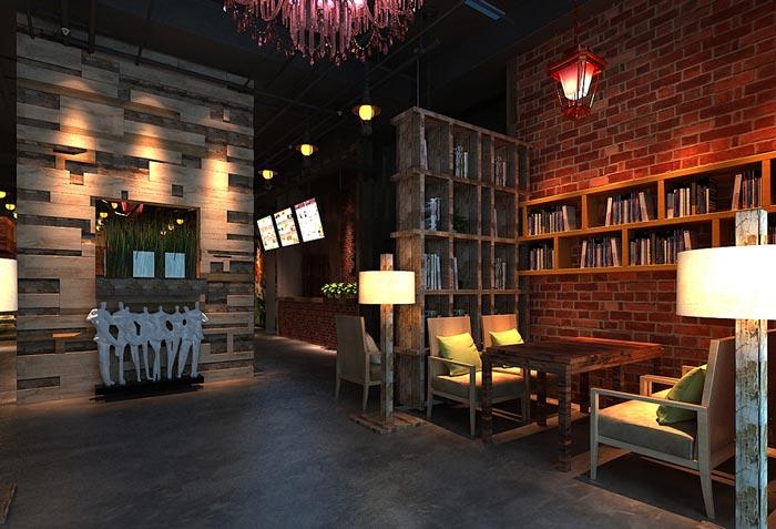 原木烧烤连锁餐厅装修设计案例