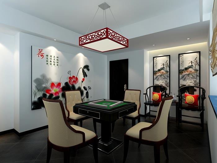 中式风格茶楼茶室棋牌室装修设计案例效果图