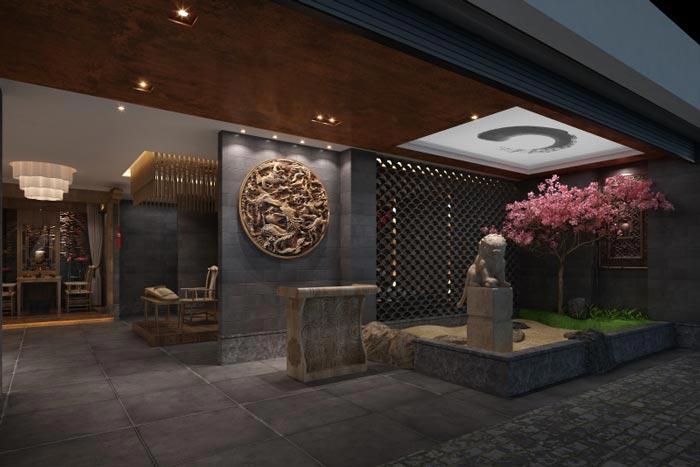 古朴茶楼茶室装修设计案例