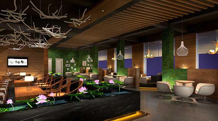 休闲咖啡厅装修设计案例效果图 岚禾装饰设计
