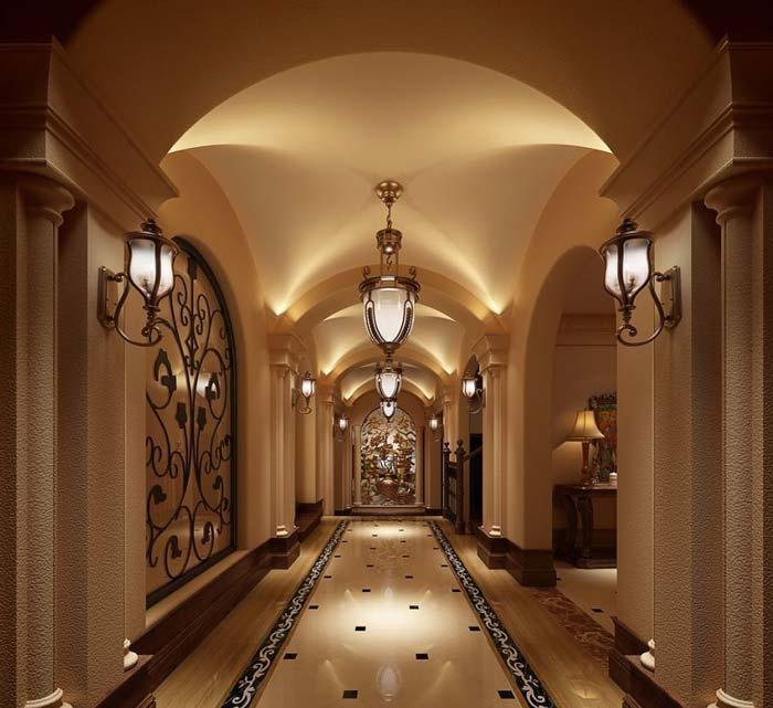 半山国际豪华别墅过道装修设计案例效果图