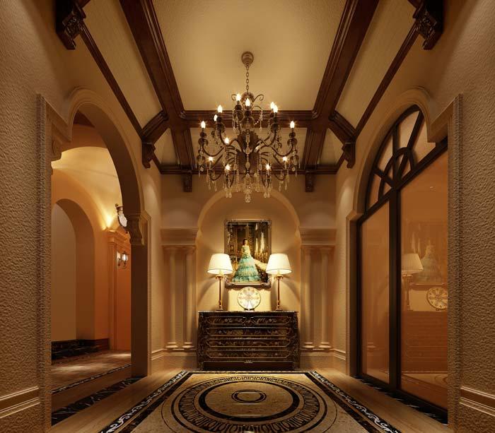半山国际豪华别墅玄关装修设计案例效果图