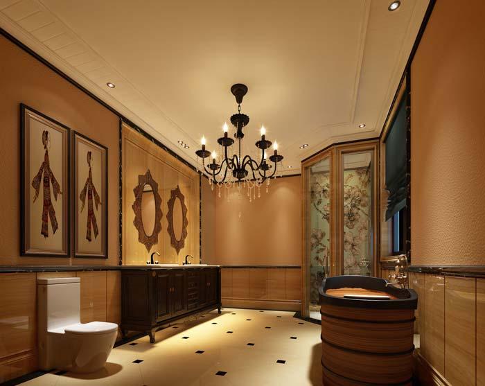 半山国际豪华别墅浴室装修设计案例效果图