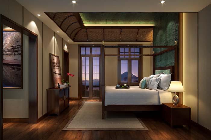 萧山新中式豪宅光影效果装修设计案例效果图