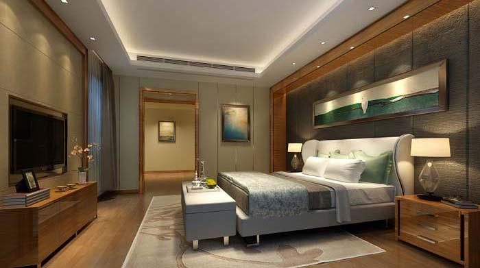 新古典别墅卧室装修设计案例效果图