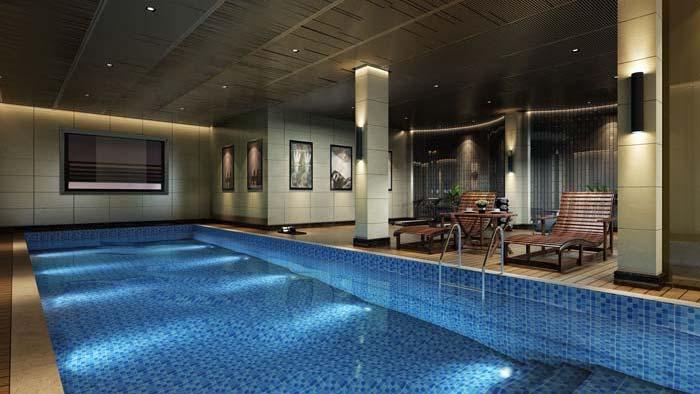 新古典别墅游泳室装修设计案例效果图