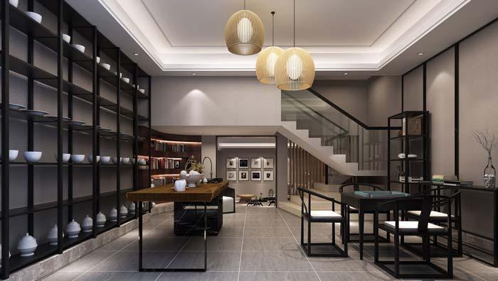 现代简约风格别墅楼梯装修设计案例效果图