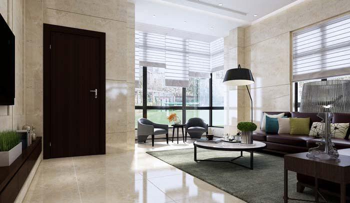 现代简约风格别墅落地窗装修设计案例效果图