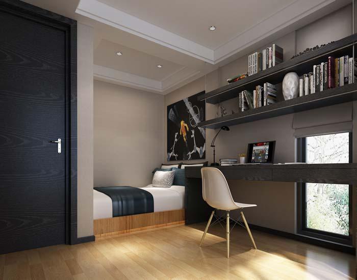 现代简约风格别墅书房装修设计案例效果图