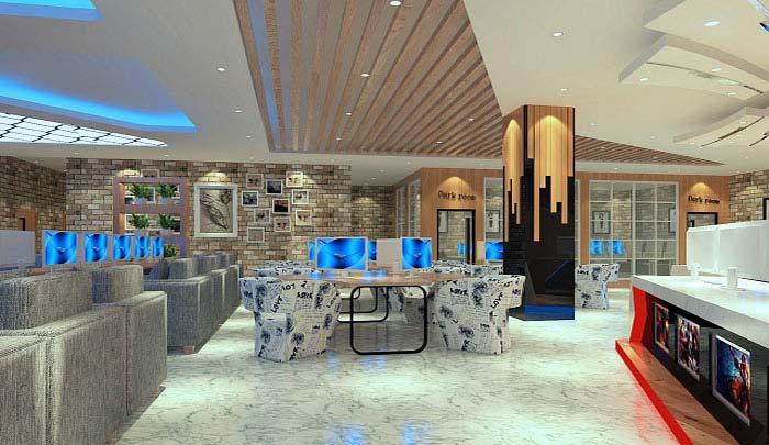 杭州网咖装修设计案例