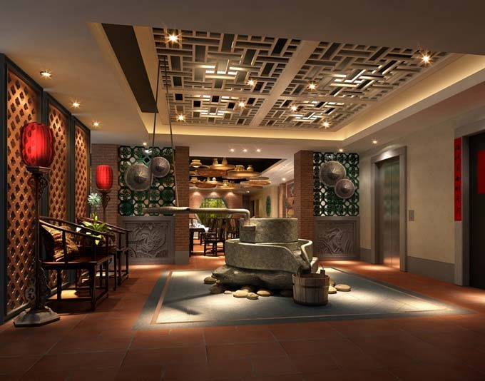 闽南风格特色餐厅装修设计案例