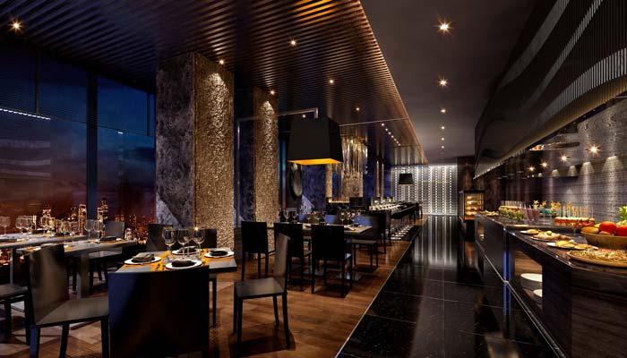 巴罗洛风格餐厅用餐区域装修设计案例效果图
