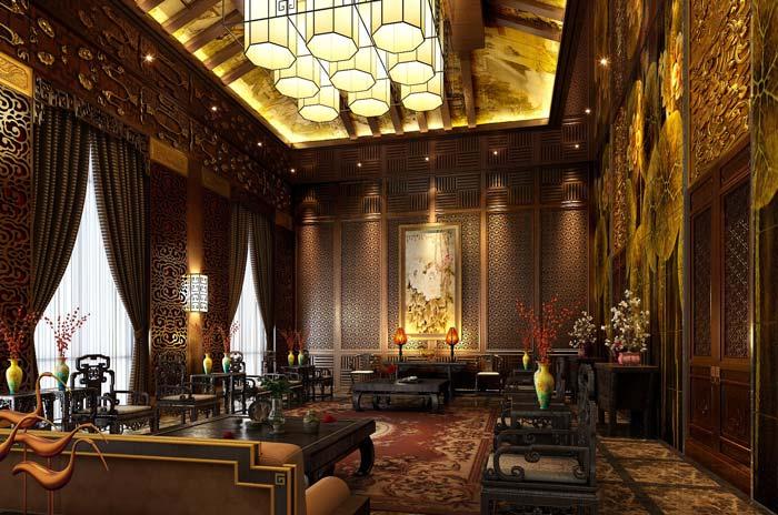 巴罗洛风格餐厅装修设计案例效果图