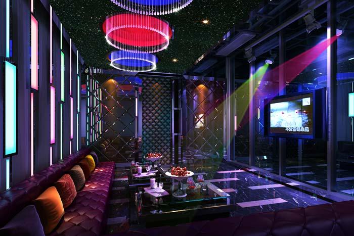 杭州酒吧包厢装修设计案例效果图