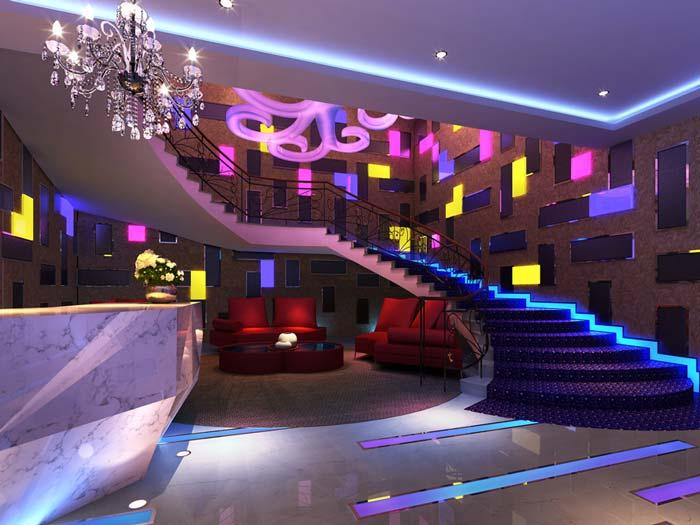 杭州酒吧前台装修设计案例效果图